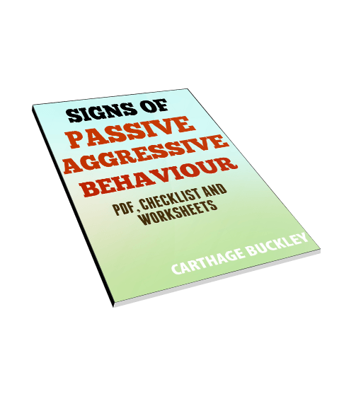 Signs of passive aggressive behaviour